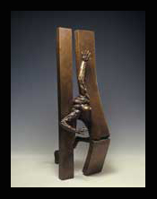 The Moment of Gettig out,1989-Bronze-   100x40x30