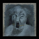 A Cry of pain.2002-oil on canvas-25x25